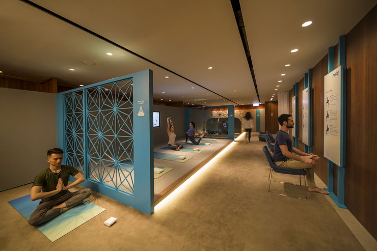 Cathay Pacific Yoga Lounge