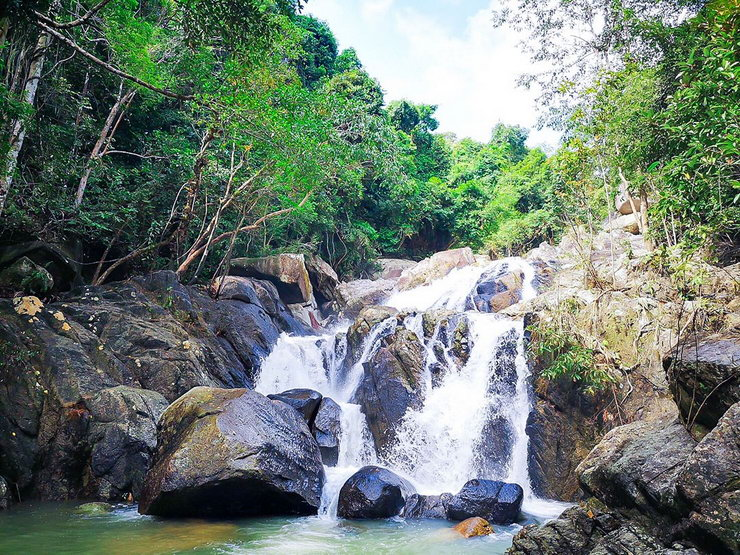 Water fall in Than Sadet-Ko Pha-Ngan National Park. *Photo Credit: Department of National Parks, Wildlife and Plant Conservation
