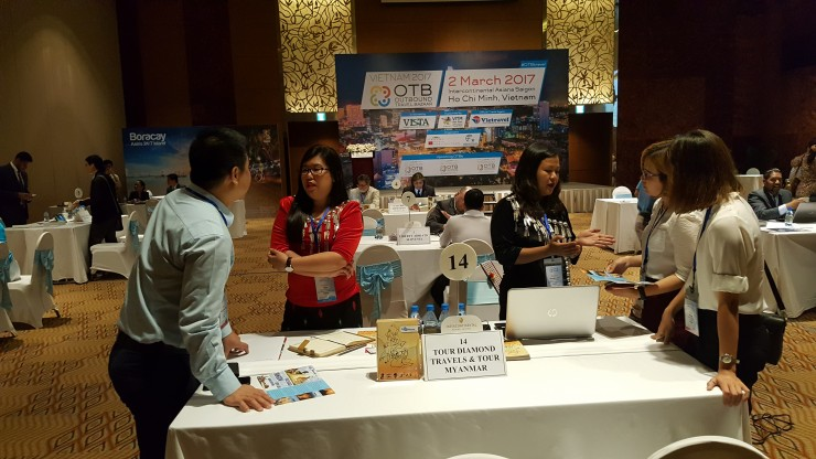 Table-top meetings at OTB in HCMC in Vietnam 2017