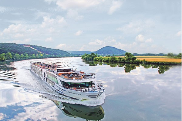 Riviera Travel river ship on the Danube.