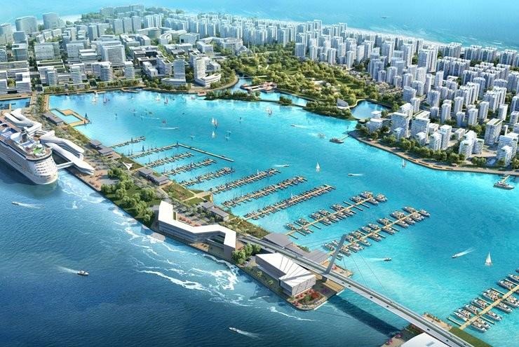 Ultra Ambitious New Maldives Island City Yacht Marina