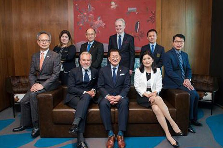 The team of SHTM+ICON consultants: (front row from left) Dr Tony Tse, Mr Richard Hatter, Professor Kaye Chon, Professor Cathy Hsu and Mr Ian Lee; (back row from left) Dr Basak Denizci Guillet, Professor Haiyan Song, Professor Brian King and Dr Qu Xiao