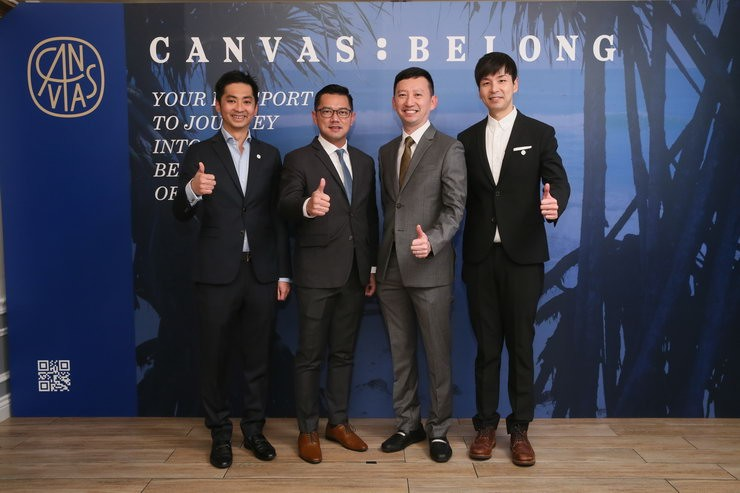Canvas Belong Co-Founder and Canvas Chief Operating Officer Joshua Ng (left) and Canvas Founder Carl Gouw (right) welcome Citizens from Bangkok at Canvas Belong launch in Hong Kong.