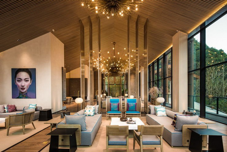 The Lobby of The Chedi Ninghai