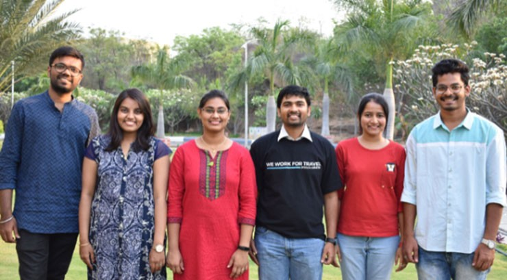 Pictured: L/R: J Akhil, K Pavithra, M Supriya, Brahmanand Reddy, B Mounika, and Subhqtahin - BUFFET for Youth Challenge Winners, Food Saviors from India representing the National Institute for Tourism and Hospitality Management (Not pictured: Sai Teja, T Nilesh, Vyshnavi, Shradanjali and Amit).