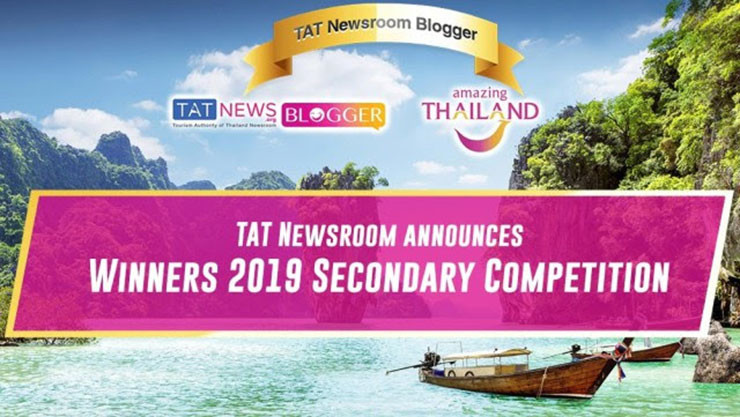 Announcement of winners in the second TAT Newsroom Blogger Thailand