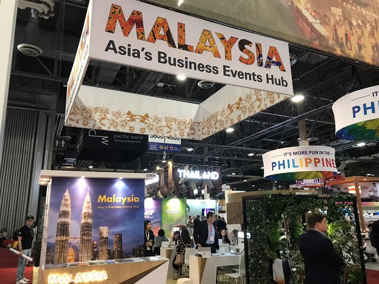 Malaysia booth at IMEX America