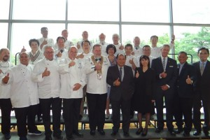 Group photo during the Press Conference in conjunction with Worldchefs Congress & Expo 2018