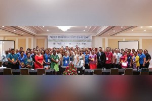 Delegates at the second Pacific Tourism Insights Conference on October 3, 2018 in Apia, Samoa