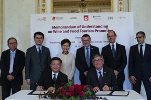 Hong Kong and Bordeaux sign a Memorandum of Understanding on wine and food tourism promotion