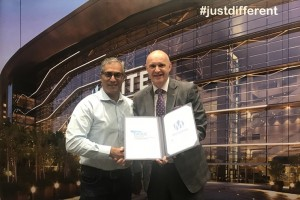 L-R) Joey Pather, CEO of GICEC and Gunther Beissel, CEO of MITEC showcasing the signed MoU