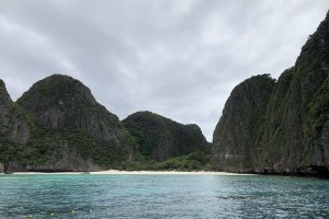 Stunning views of Maya Bay, taken from a boat in the front of the Bay on 19 October, 2018