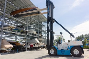 Asia-Pacific's largest Wiggins Marina Bull forklift in action at Royal Phuket Marina