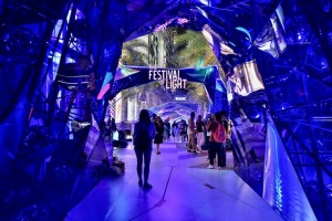 Crytal Tunnel at Parc Paragon under the theme of The Festival Of Light