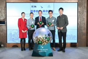 Rupert Hogg, Cathay Pacific Chief Executive Officer, Francis Ngai, Social Ventures Hong Kong Founder & CEO and Bird Tang, VolTra Co-Founder & Executive Director attended the event as officiating guests.