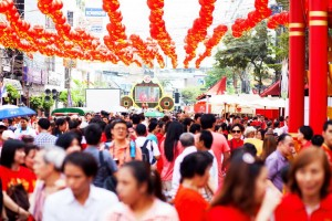 Chinese New Year, Yaowarat Road, Bangkok. Photo: iStock.com/justhavealook