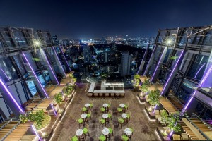 Spectrum's outdoor terrace on floor 30