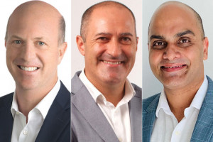 L-to-R: Xavier Desaulles, CEO of APAC Markets, Jean-Charles Fortoul, CEO of APAC Resorts, Vijay Sharma, General Manager of Southeast Asia