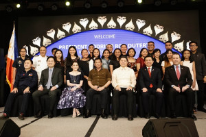 Philippine President Rodrigo Roa Duterte was guest of honour at the official launch of dusitD2 Davao hotel, development by Torre Lorenzo Development Corporationin the heart of Davao City's new central business district, Lanang.