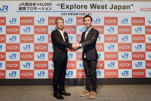 (From left to right) Hiroshi Muro, Executive Officer, Senior General Manager of Marketing Department of JR-West ; Ethan Lin, CEO and Co-Founder of Klook
