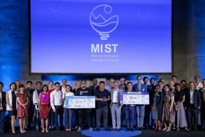 MIST 2019 Group Photo at Travel Startup Asia Forum in Bangkok, October 9th, 2019