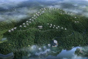 Bird's-eye view of Dusit Thani Resort Moganshan, Zhejiang.