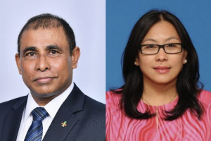 L/R: Dr. Abdulla Mausoom, Minister of Tourism, Republic of Maldives and Ms Noredah Othman, General Manager, Sabah Tourism Board, Malaysia.