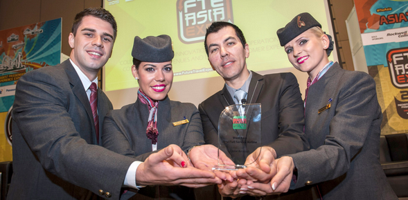 """Qatar Airways named """"Best Full Service Airline in Western Asia"""" at ..."""