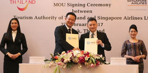 Αποτέλεσμα εικόνας για TAT And Singapore Airlines Sign MOU To Boost Travel To Thailand