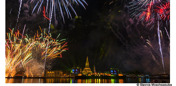 Thailand organised the New Year countdown at Wat Arun for the first time